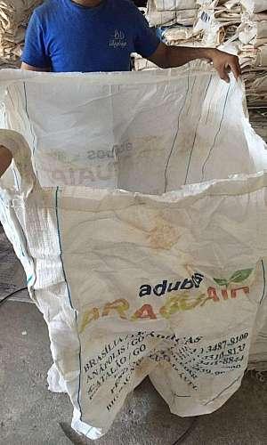 Big bag descartáveis de adubo higienizados