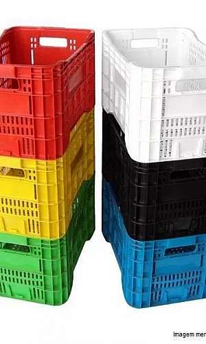 Caixa plástica agrícola