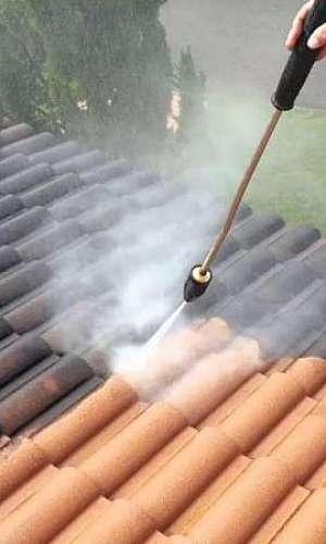 Orçamento para limpeza de telhado